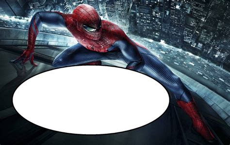 spiderman  printable invitation templates