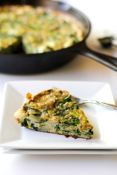 Spinach Leek Potato Frittata Picture