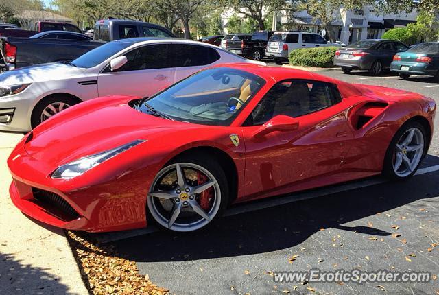 Ferrari 488 GTB spotted in Jacksonville, Florida on 03/06/2019