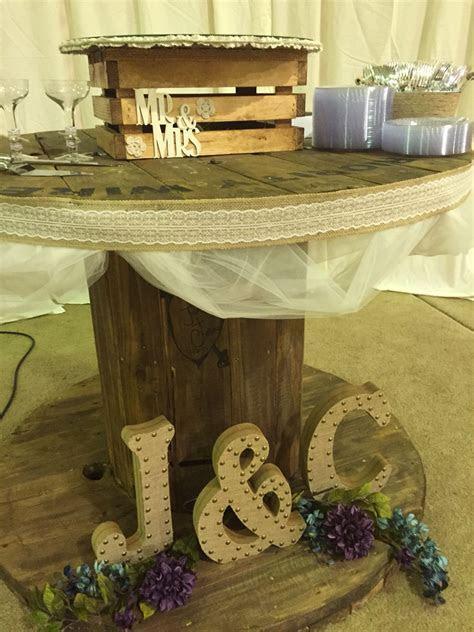 Wire spool wedding cake table   Wedding   Wedding, Wedding