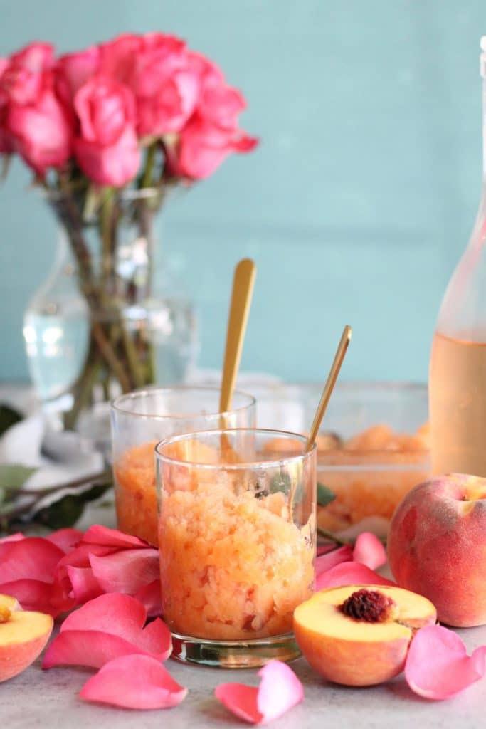 Peach Rosé Granita