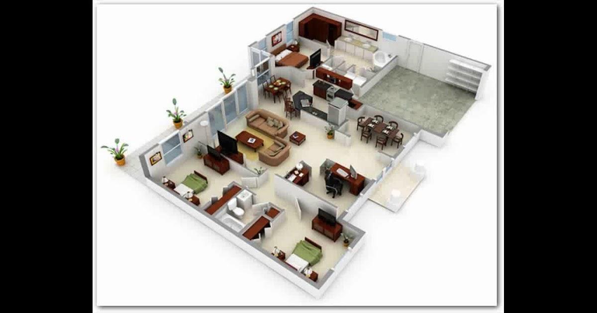Desain Rumah 3d Minimalis 1 Lantai