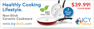 $39.99 for 3 Pcs Healthy Ceramic Frying Pan Set