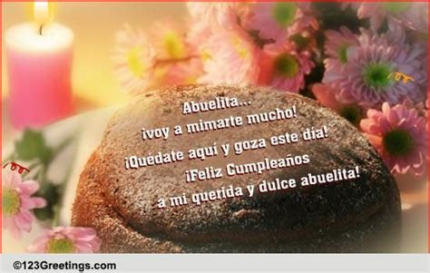B'day Wish For Grandma In Spanish! Free Grandparents