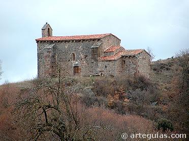 Ermita prerrománica de Cueva de Juarros. aunque fuera de la ruta, es un  ejemplo de la alta densidad de monumentos altomedievales de Burgos