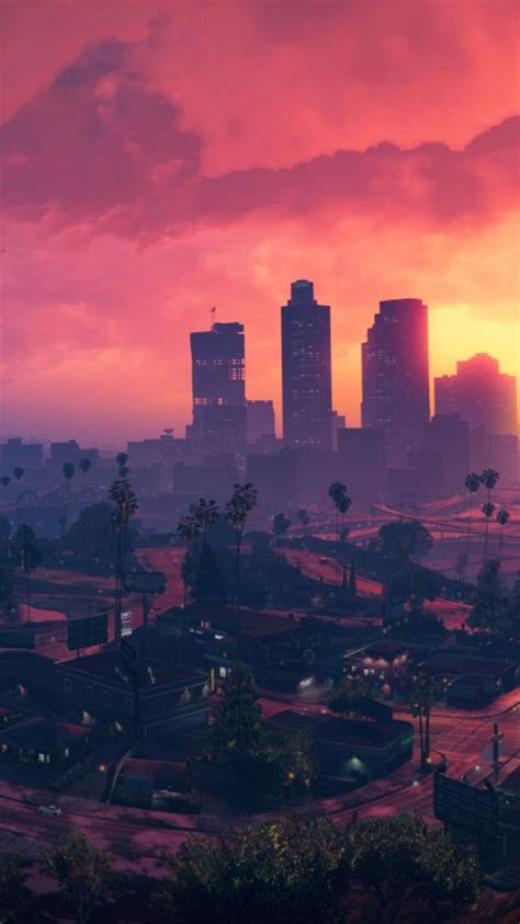 wallpaper grand theft auto  los santos sunset hd