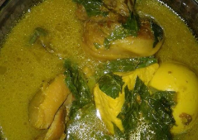 Resep Mudah Gulai Ayam daun singkong dan tahu telur Terenak
