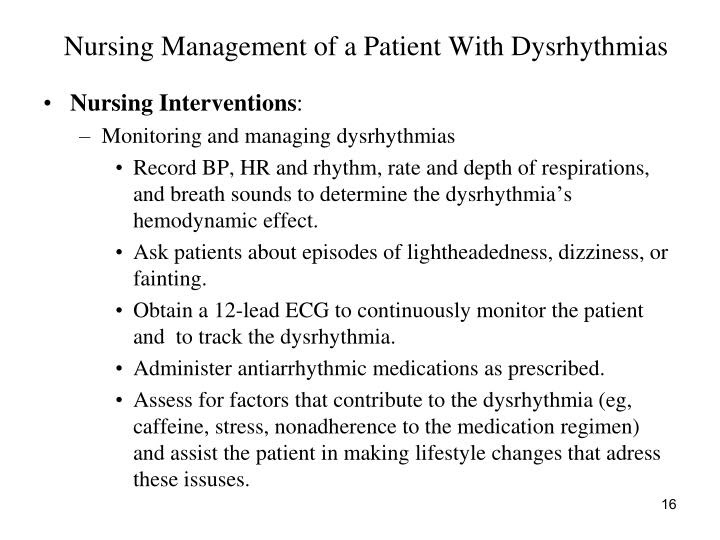 PPT - Care of Patient With Dysrhythmias PowerPoint ...