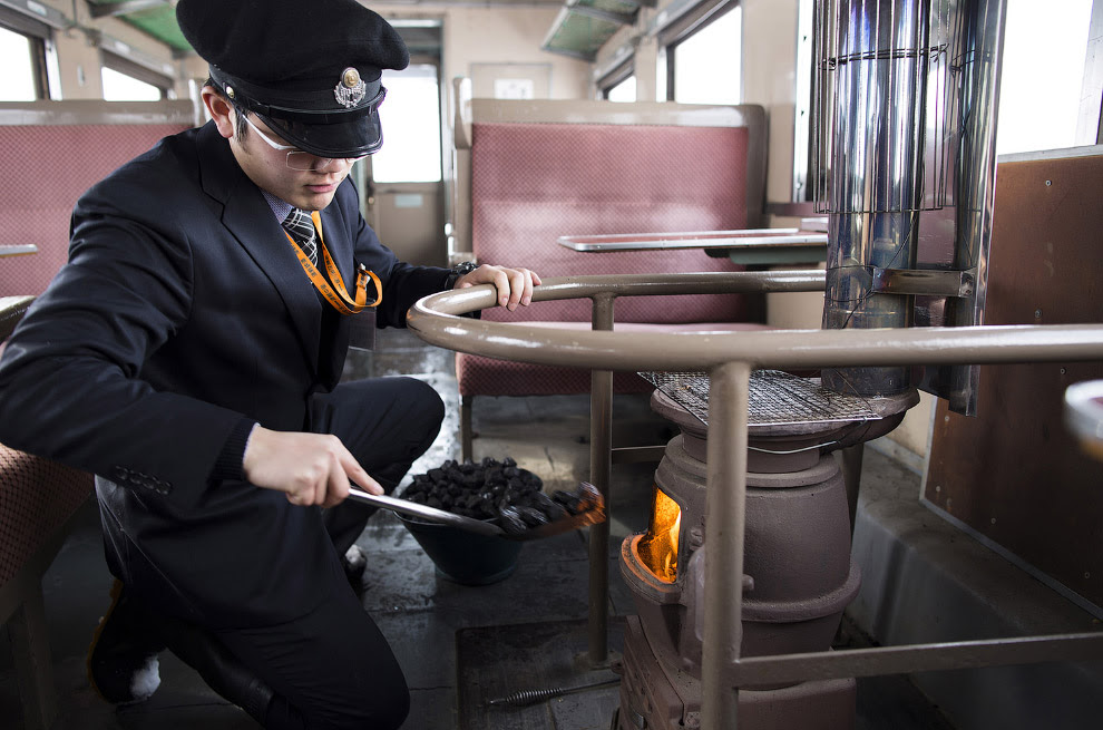 Винтажный японский поезд