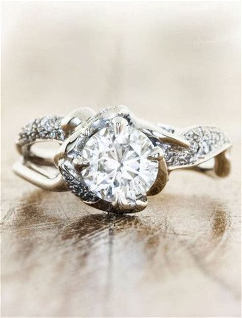 antler diamond wedding ring