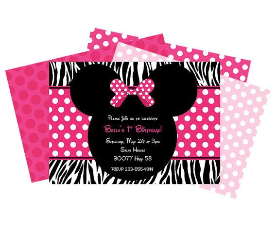 1000+ images about Minnie zebra on Pinterest   Minnie mouse ...
