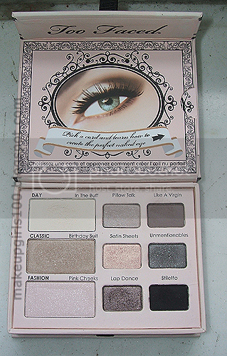 Make Up Girls: Too Faced Naked Eye Palette: swatches e review!