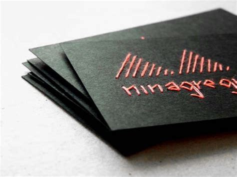 Embroidered Business Cards and Artwork by Nina Gregier