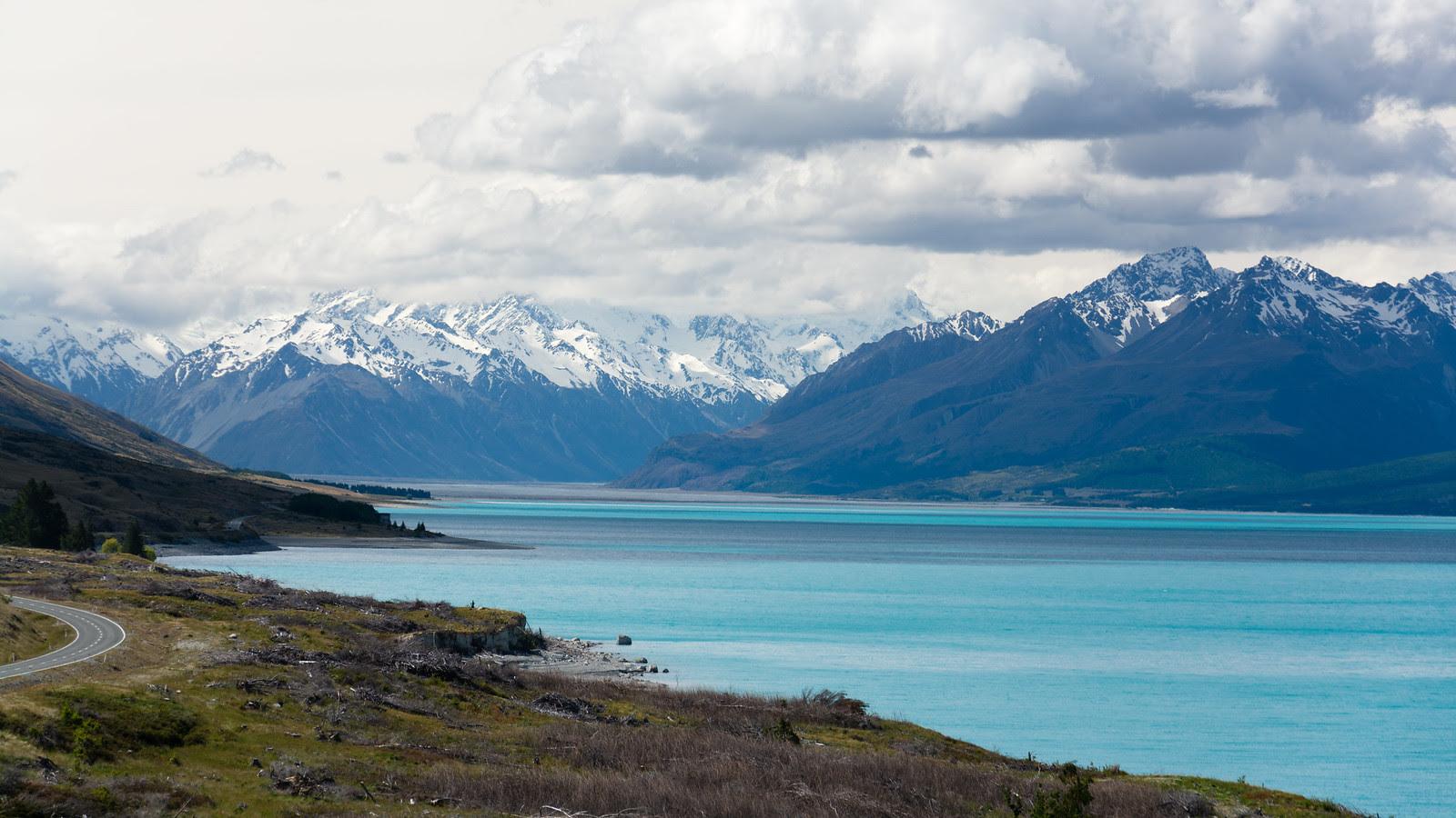 View toward Mount Cook, Lake Pukaki