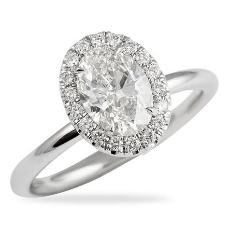 1.01 CT OVAL DIAMOND ENGAGEMENT RING