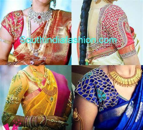 wedding silk saree blouse designs   Cholis I   Pinterest