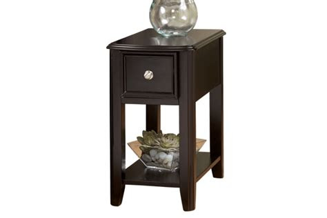 chocolate side table ashley furniture   home