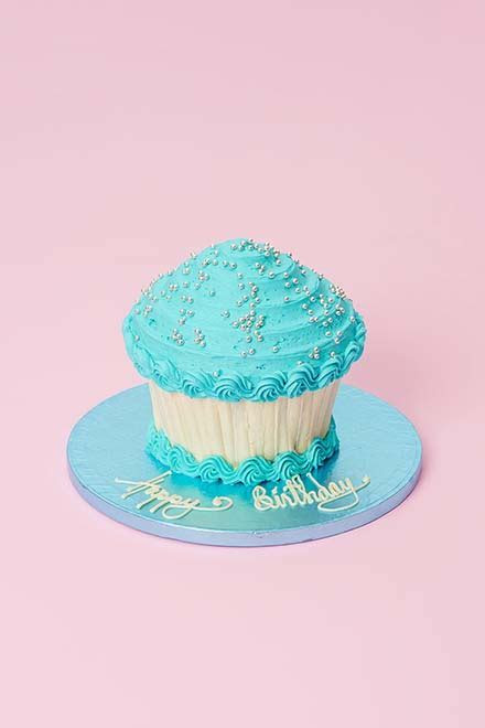Buy Sky Blue Giant Cupcake online from Lola's Cupcakes