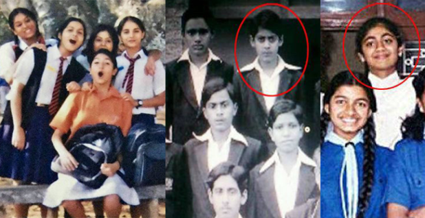 Bollywood biggies in their school uniform