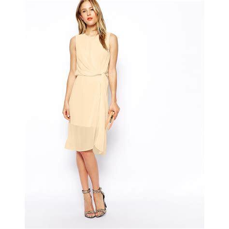 ASOS Drape Midi Dress   Nudevotion.com