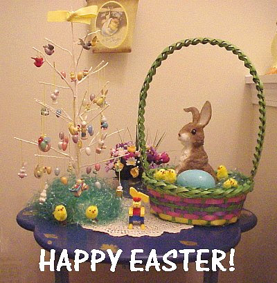 Easter tree and Easter basket