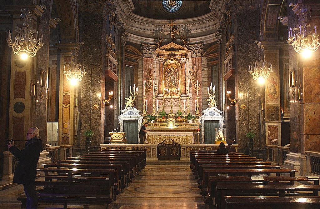 Roma, Santa Maria in Via, Innenansicht.JPG
