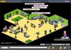 Virtual networking at Habbo Hotel