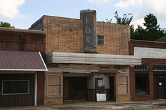 front view of fox theatre in timpson