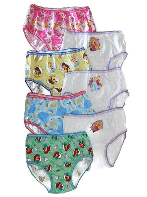 Handcraft Little Girls' Disney Princess 7-Pack Panties
