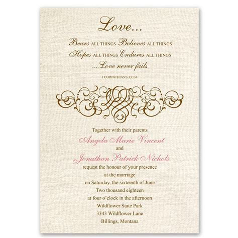 Rustic Love Invitation   Ann's Bridal Bargains