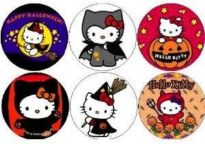 Olá Kitty Halloween ímã set