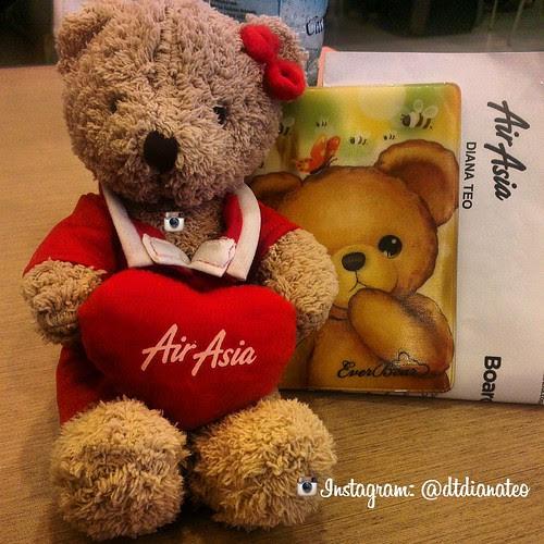 AirAsia Teddy Bear & Ticket