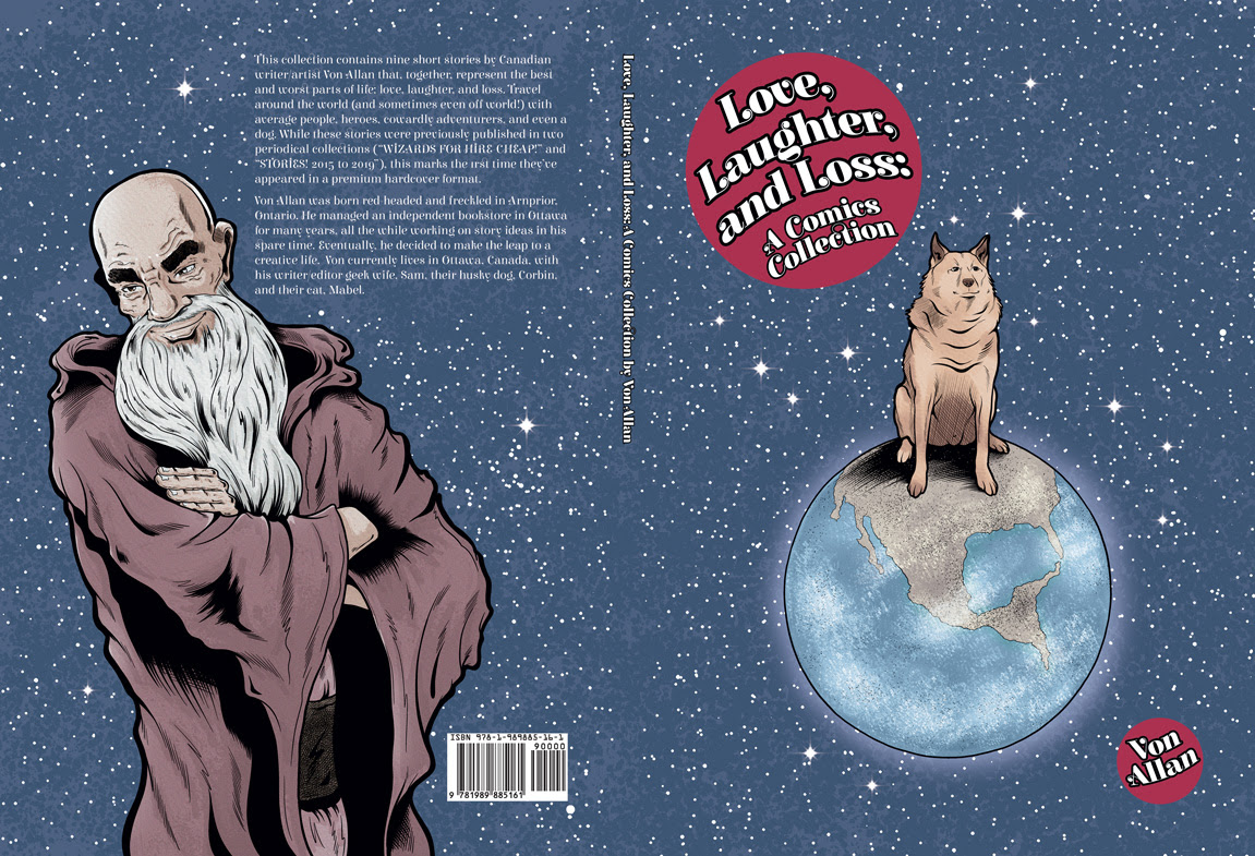 Love, Laughter, and Loss wraparound cover by Von Allan