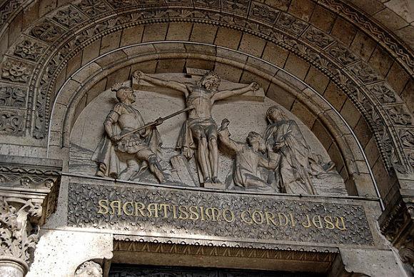 Entrada a la Basílica del Sagrado Corazón de Montmartre, París