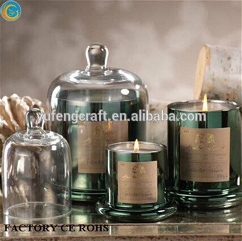 Copper Effect Glass Cloche Candle /hurricane Lanterns