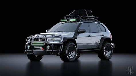 BMW X5 E70 Off Road Rendering   YouTube