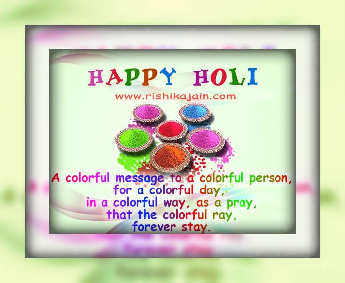 May God Gift You All The Colors Of Life Happy Holi