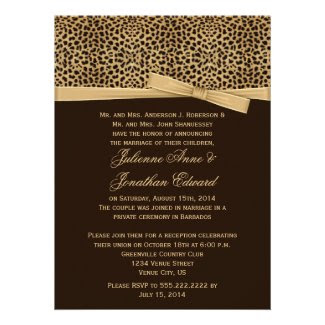 Leopard Print FAUX Ribbon Post Wedding Reception