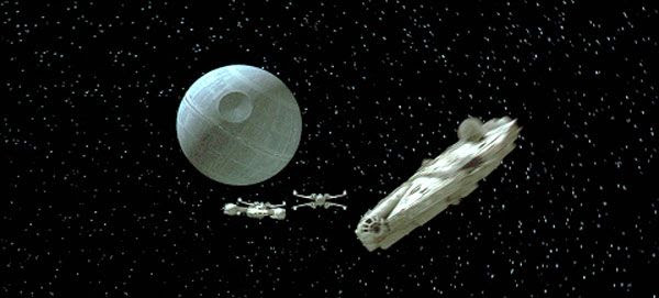 The Death Star is about to meet its end in STAR WARS: A NEW HOPE.
