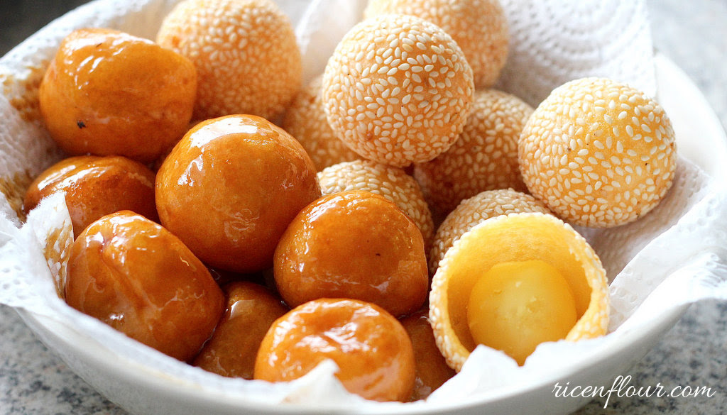 How to make Sesame and Caramel-coated rice balls (Recipe ...