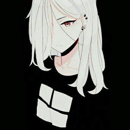 hipster white white hair girl anime bilder anime
