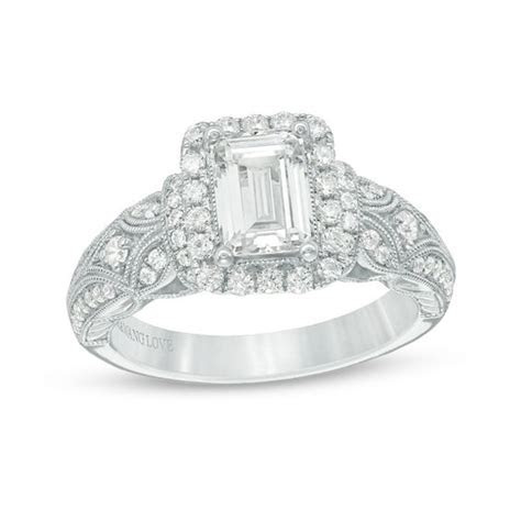 Vera Wang Love Collection 1 1/2 CT. T.W. Emerald Cut