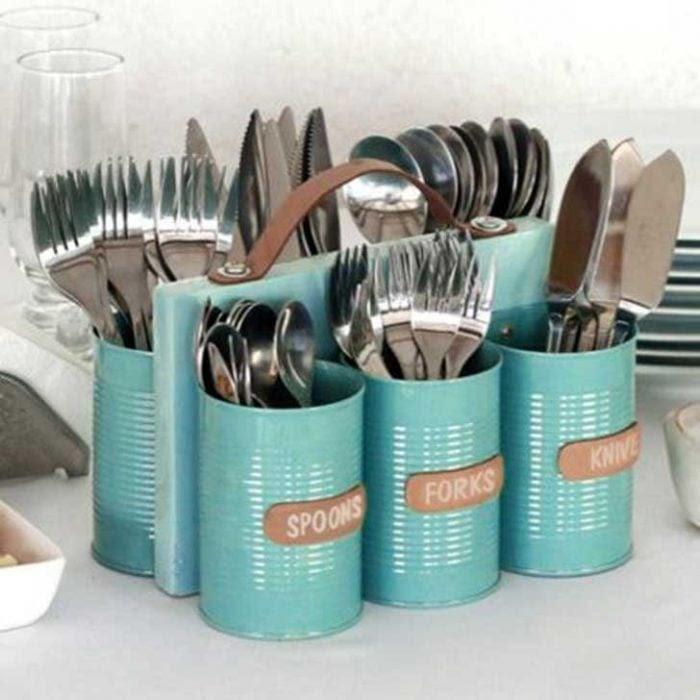 20 Creativas y útiles maneras de reutilizar tus latas