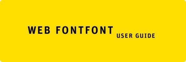 WEB FONTFONT USER GUIDE – Guía de tipografías web para descargar en PDF