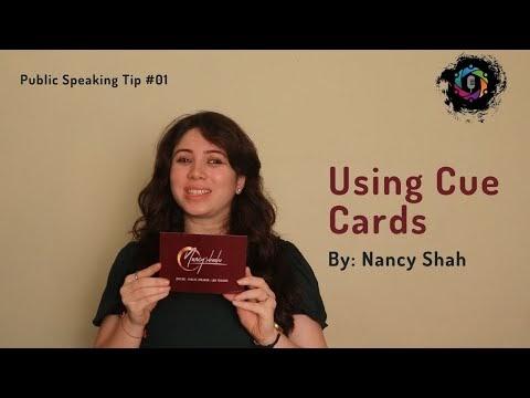 Public Speaking Tips: Cue Cards, Brainstorming, Audience Analysis | Nancy Shah | Part-1
