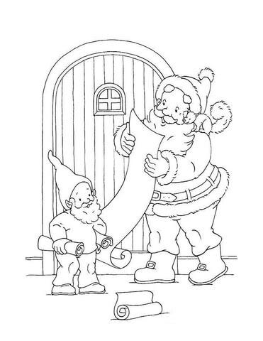 Disegno Di Babbo Natale Legge Le Letterine Da Colorare Disegni Da