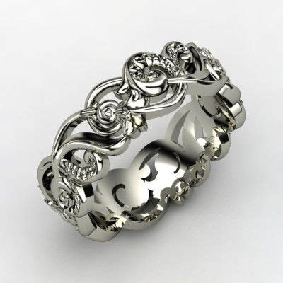 """Poseidon"" by Jessica Behzad. 14K white gold w/ choice of"