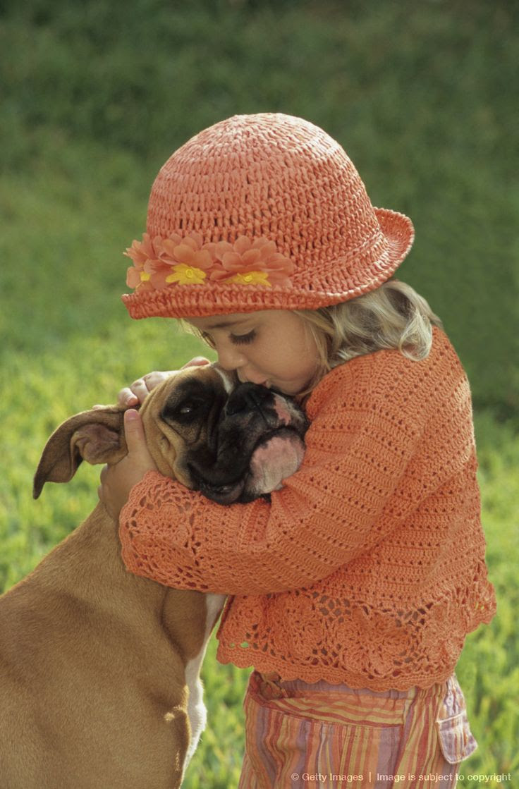 Girl kissing boxer dog on nose http://johnpirilloauthor.blogspot.com/
