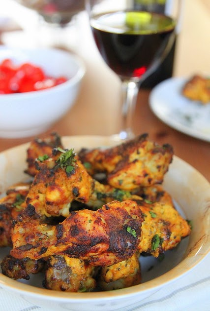 Grilled chicken wings- the Indian way