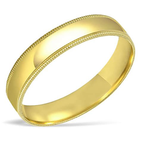 mens solid  yellow gold wedding band engagement ring